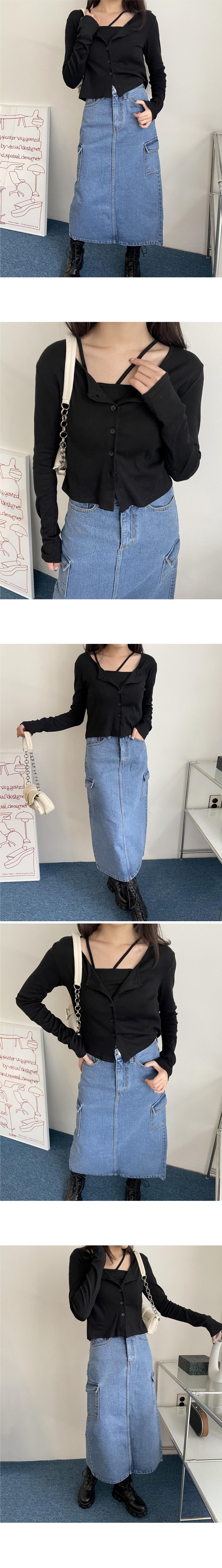 Blois Unfooted Sleeveless Cardigan Set