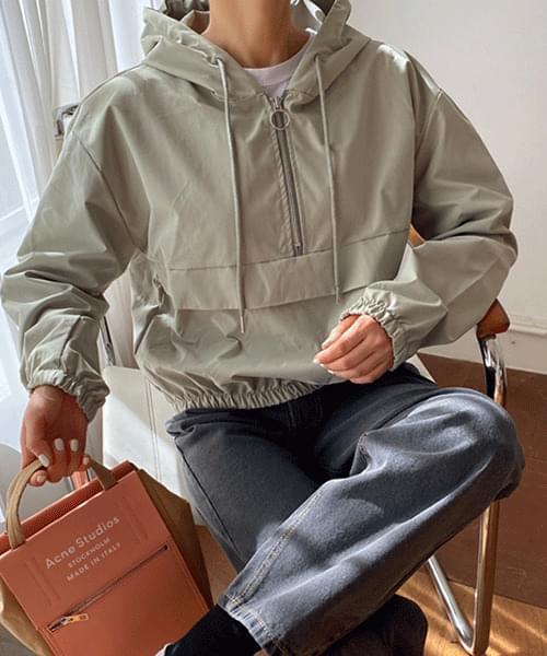 cropped anorak hooded Jacket
