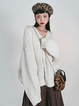 Cable Flat Loose-fit Knitwear