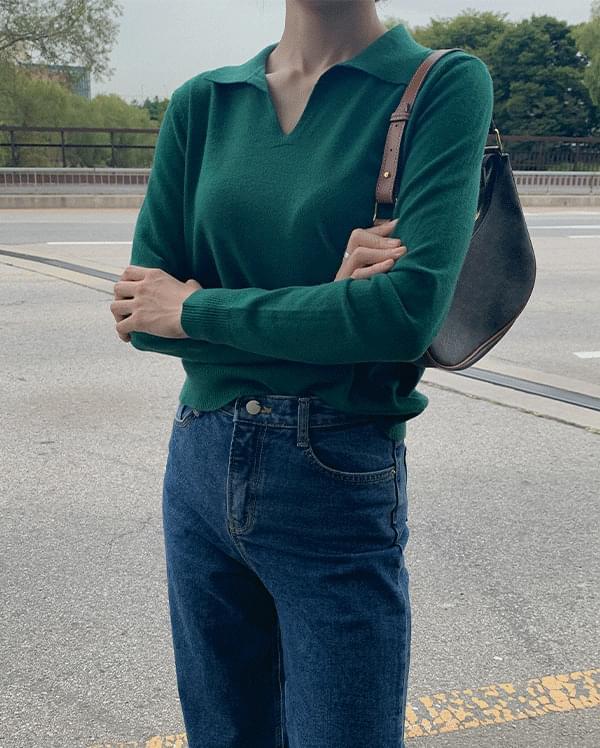 Jasmine V-Neck Collar Knitwear