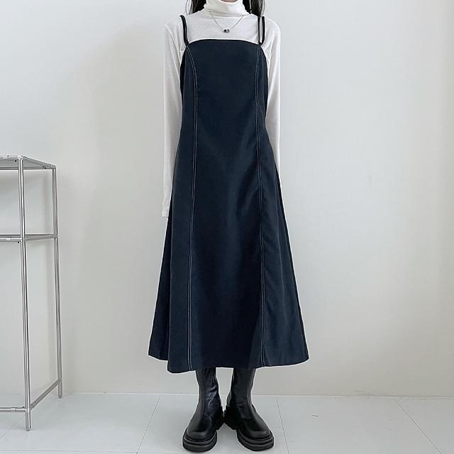 Stitched suede bustier Dress