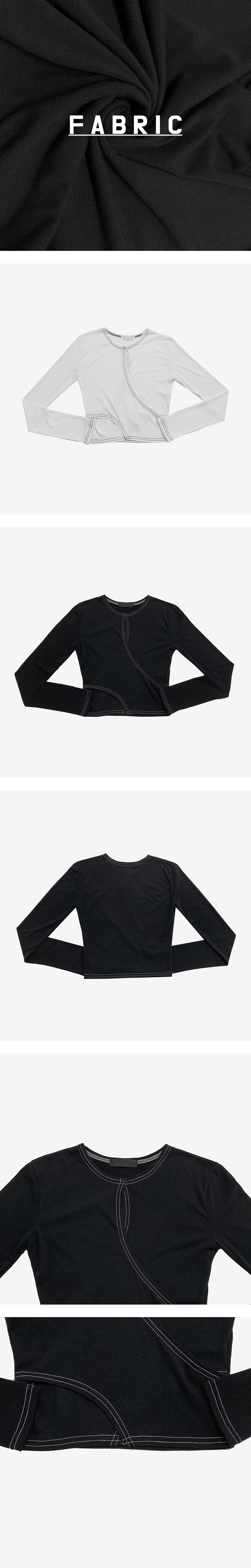 bed wrap slit cropped T-shirt