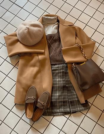Button Zero Round Collar Jacket Coat