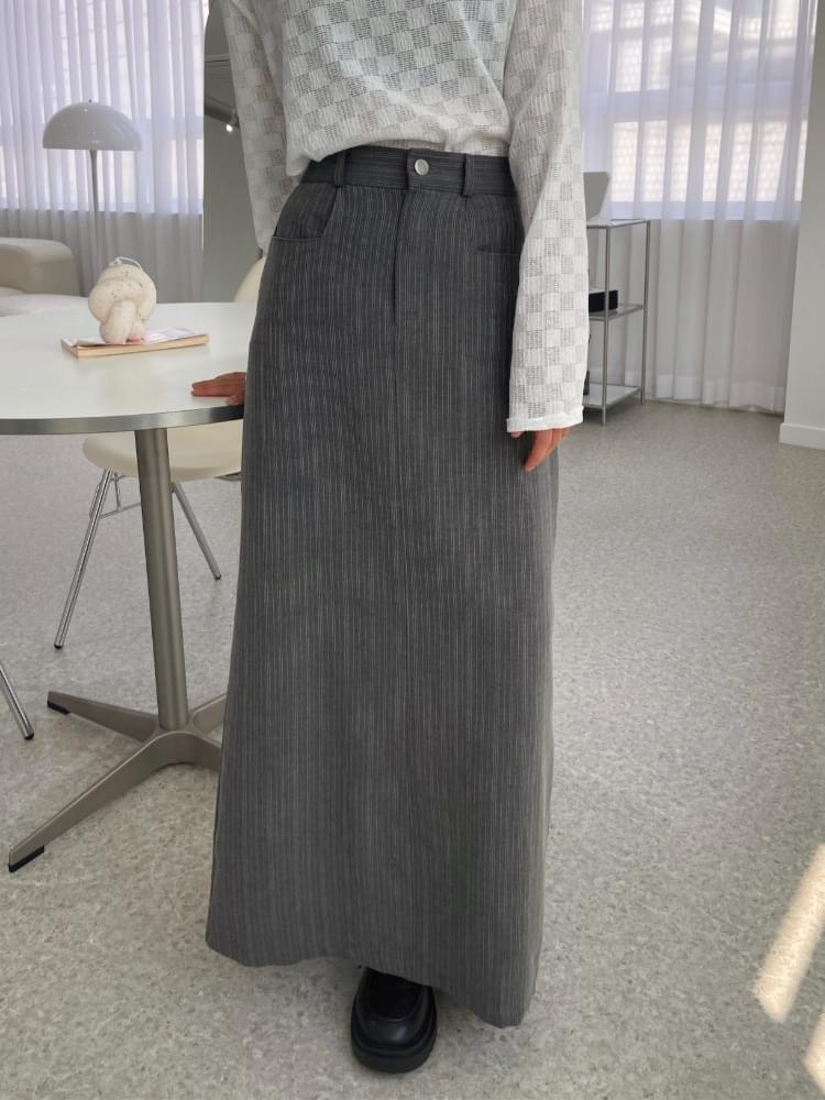 A Line Vintage Cotton Long Skirt