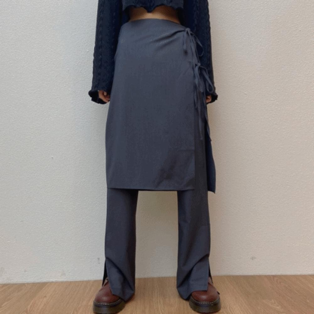 Mood wrap skirt pants