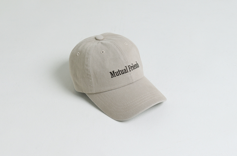 Friends lettering embroidered ball cap