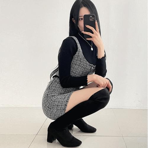 Coco Tassel Tweed Pearl Tweed Jacket Skirt Set Two Piece