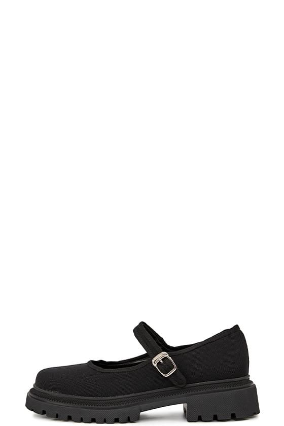 Mary mesh strap flat shoes