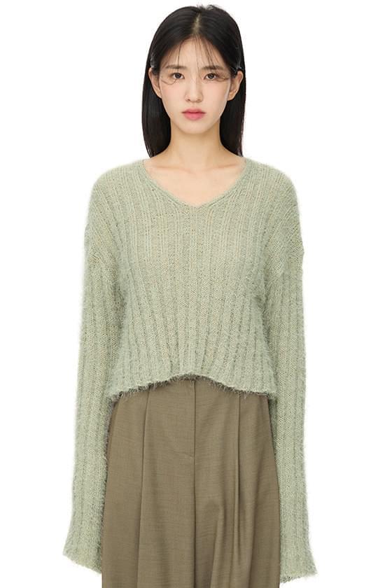 Soft Feather V-Neck Knitwear