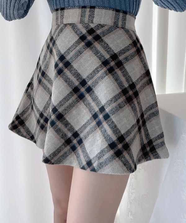 London Check Flare Skirt 2color