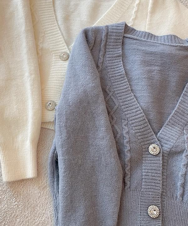 Second Sleeveless Knitwear + Jewel Cardigan color