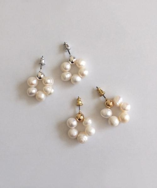 ball pearl drop earring