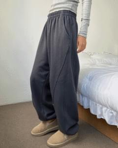 diagonal stitch training jogger pants
