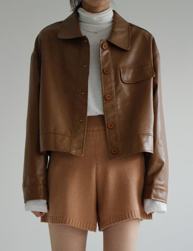 caramel leather jacket