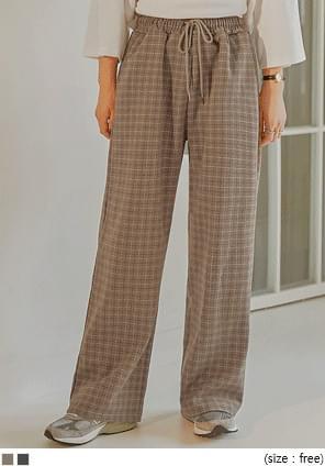 Drawstring Check Pants