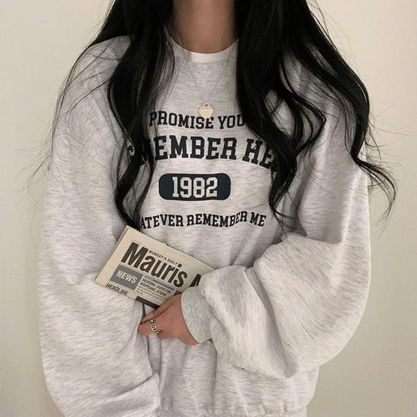Pastel Remember Loose-fit Sweatshirt