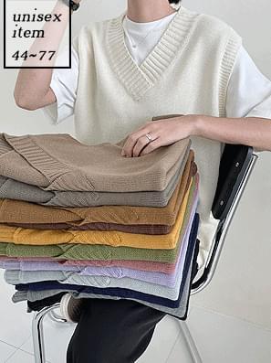 V-Neck Boxy-fit Knitwear Vest