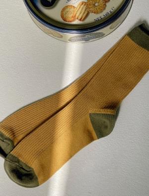Vintage combo color Ribbed socks