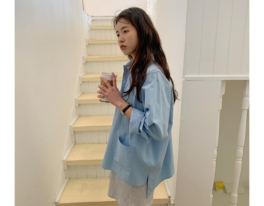 mist cotton pocket shirt