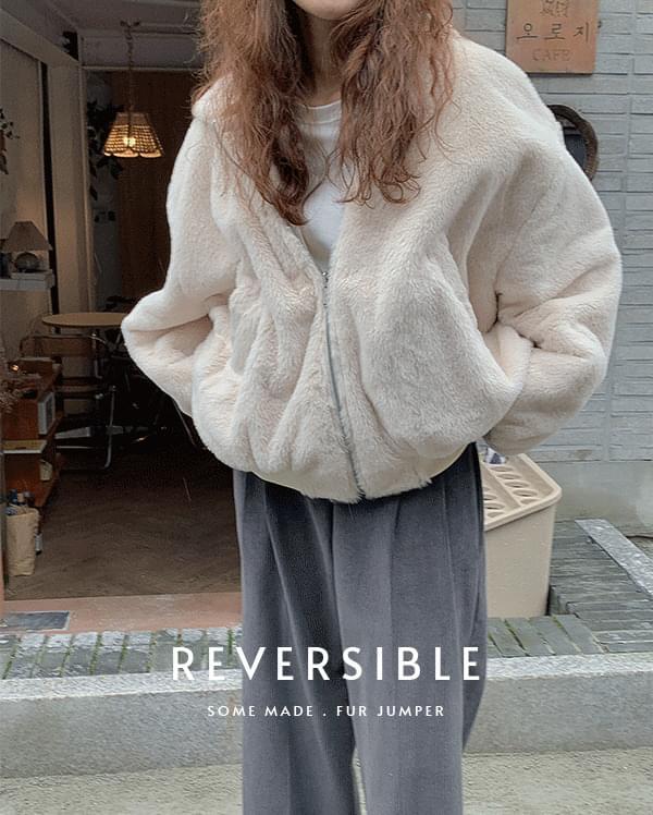 #made some bills reversible fur Jacket