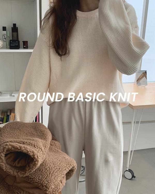 #Any place near round basic knitwear