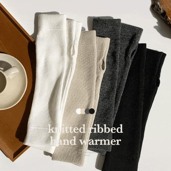 Knitwear Ribbed hand warmer 4color