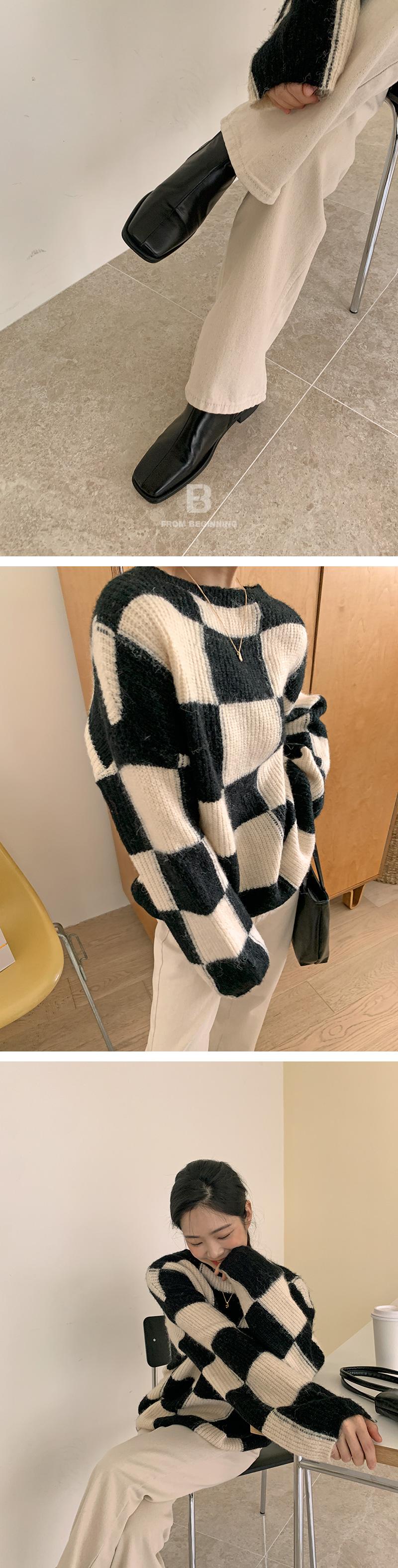 Chess Round Wool Knitwear