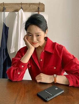 corduroy colored pocket shirt