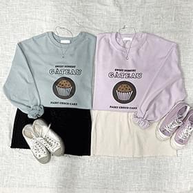 Cupcake Lettering Sweatshirt