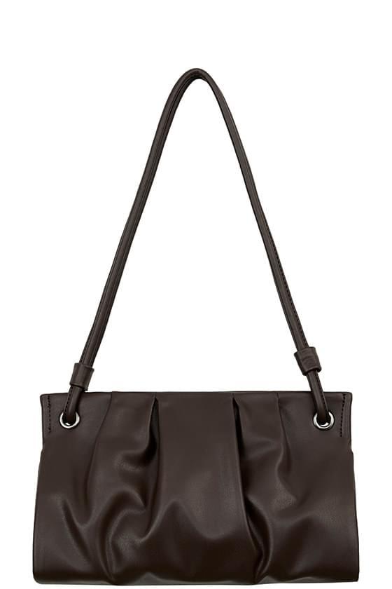 Monet shirring big shoulder bag