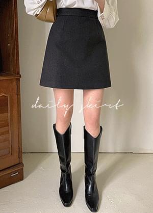 Kittermel Wool A-Line Mini Skirt