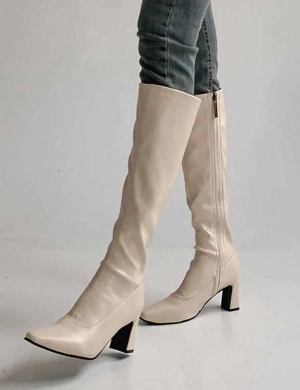 Emma Split line long boots shoes