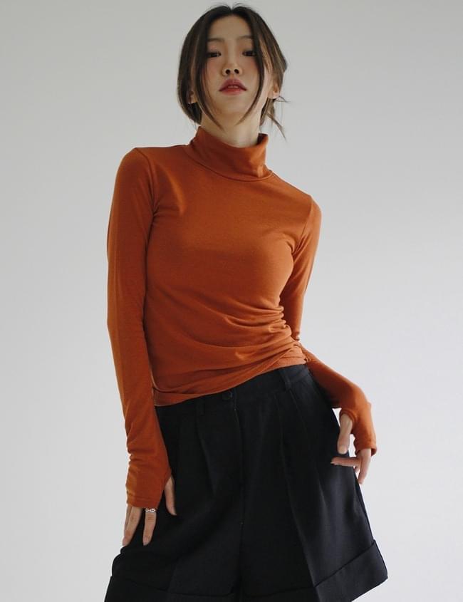 Autumn Warmer Turtleneck T-shirt