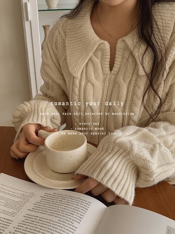 molly wool collar knitwear