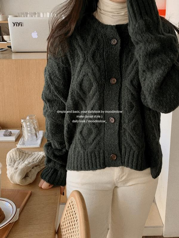 Robben Wool Cable Cardigan