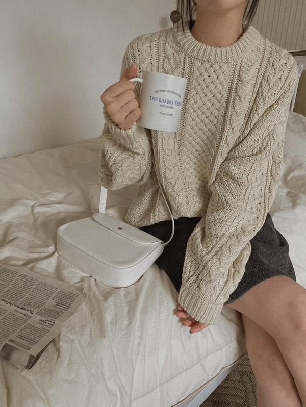 Milo Wool Twisted Knitwear - wool 30%