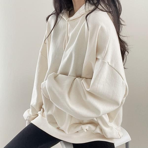 Overfit plain hoodie