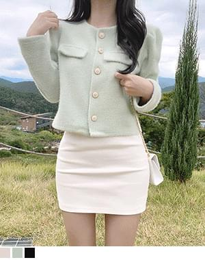 Ruth gold button cardigan jacket