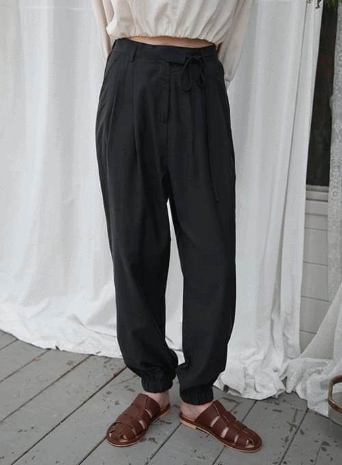 plain string jogger pants