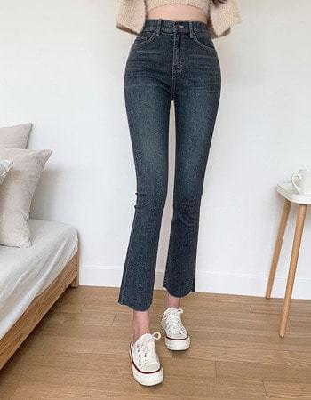 FUD Van Hai Dark Gracie Semi Flared Denim Trousers