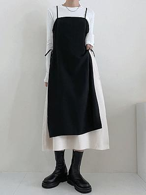 FW suede double layered string Dress