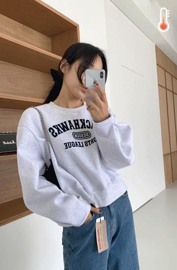 'BLACKHAWKS' semi-cropped Sweatshirt