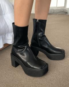 Platform Whole Heel Lightweight Ankle Boots
