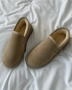 eco fur ugg loafers