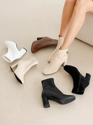Line Art Spandex Socks Boots 7cm