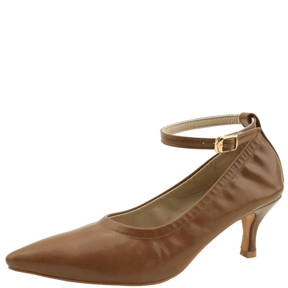 Slim Mary Jane Stiletto Heel 6cm Brown