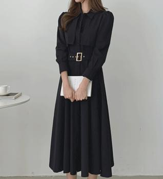 Velcro Trench Long Dress #38116