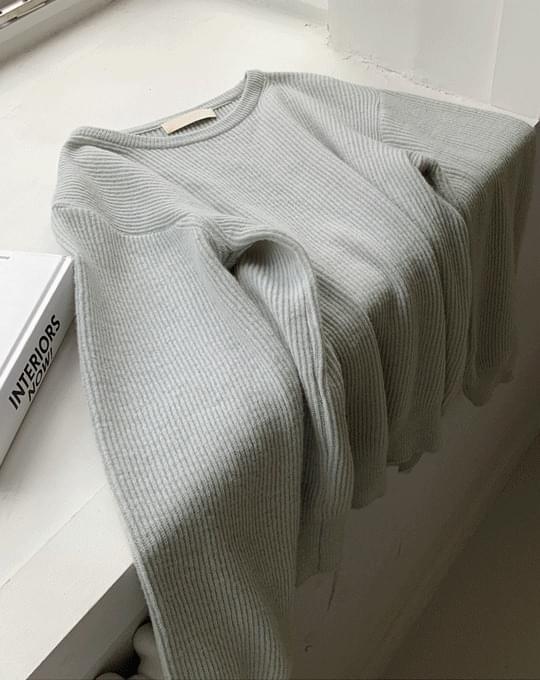 Benny's Round Merino Wool Knitwear - 4 color
