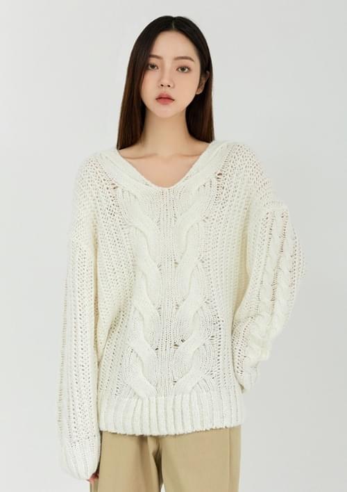 heron knit cardigan