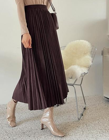 suit pleated banding skirt